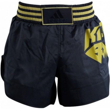 Шорты для кикбоксинга Adidas (черный-золотой, ADISKB02)