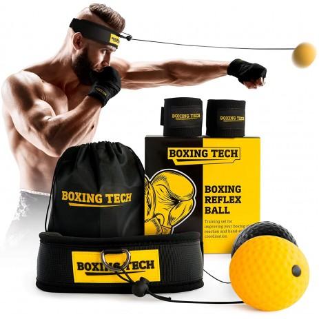 Скоростной мяч-тренажер Файтбол BOXING TECH Headband (2 мяча)