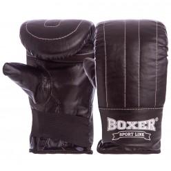 """Снарядные перчатки Boxer """"Тренировочные"""" (кожа)"""