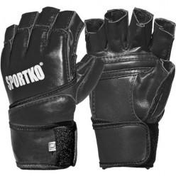 Перчатки с открытыми пальцами Sportko ПК4