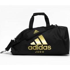 Сумка-рюкзак с золотым логотипом Adidas Judo (черный, ADIACC052J)