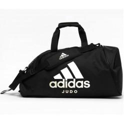 Сумка-рюкзак с белым логотипом Adidas Judo (черный, ADIACC052J)