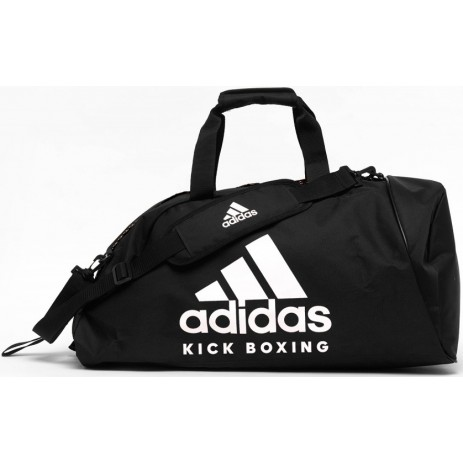 Сумка-рюкзак с белым логотипом Adidas KickBoxing (ADIACC052KB)