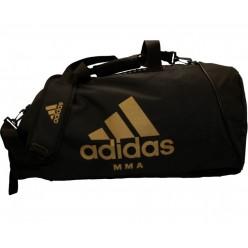 Сумка-рюкзак с золотым логотипом Adidas MMA (черный, CC052MMA)