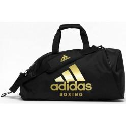 Сумка-рюкзак с золотым логотипом Adidas Boxing (черный, ADIACC052B)