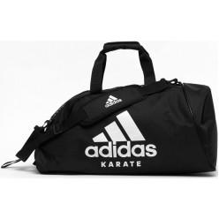 Сумка-рюкзак с белым логотипом Adidas Karate (черный, ADIACC052K)