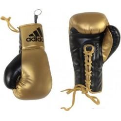 Сувенирные боксерские перчатки Adidas (черный-золотой, ADIBGG02)