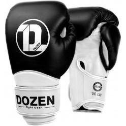 Тренировочные боксерские перчатки Dozen Dual Impact Black/White