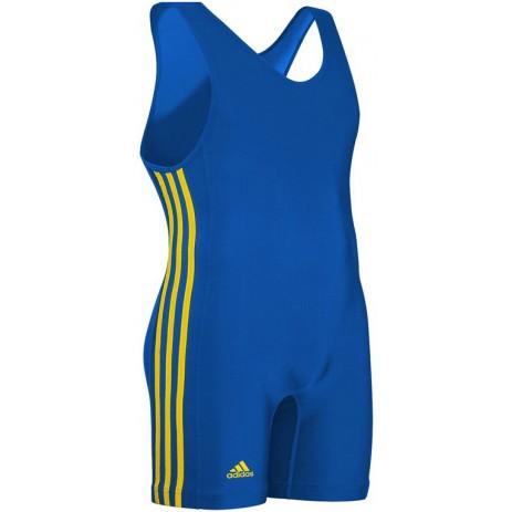Трико для борьбы Adidas 3 Stripe (синий, aS-102s-Royal\Gold)