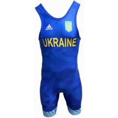 Трико для борьбы Adidas UWW (синий, 1633BLUE V1)