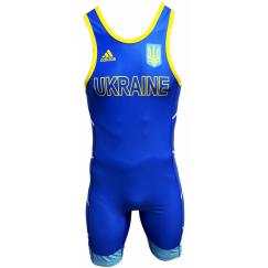 Трико для борьбы Adidas UWW (синий, 1633BLUE V2)