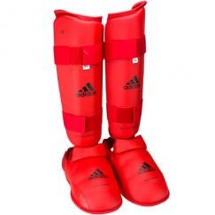 Защита голени и стопы Adidas WKF (красный, 661.35)