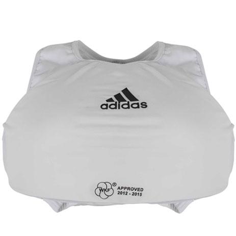 Защита груди женская Adidas с лицензией WKF (белый, 666.14)