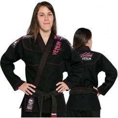 Женское кимоно для джиу-джитсу Venum Challenger 2.0 Black